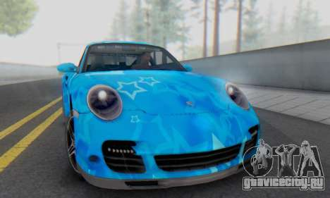 Porsche 911 Turbo Blue Star для GTA San Andreas вид слева