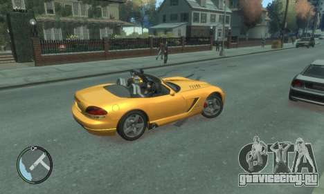 Dodge Viper SRT-10 2003 v2.0 для GTA 4 вид снизу