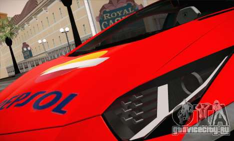 Lamborghini Aventador LP700-4 для GTA San Andreas вид сбоку
