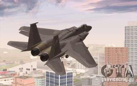 F-15C Eagle для GTA San Andreas вид слева
