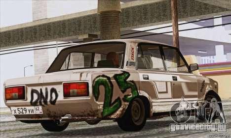 ВАЗ 2107 GVR для GTA San Andreas вид слева
