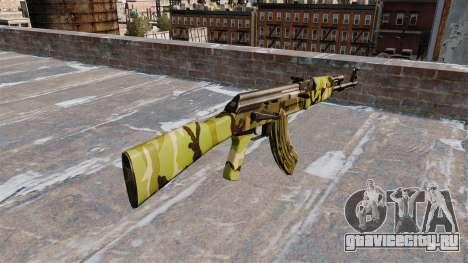 Автомат АК-47 Woodland для GTA 4 второй скриншот