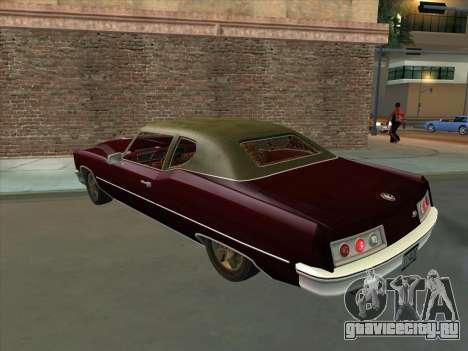 Yardie Lobo from GTA 3 для GTA San Andreas вид сзади