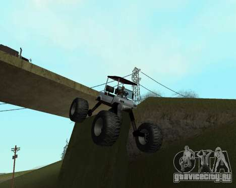 Caddy Monster Truck для GTA San Andreas вид сзади слева
