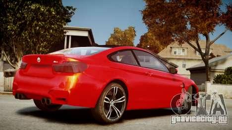 BMW M4 Coupe 2014 v1.0 для GTA 4 вид слева