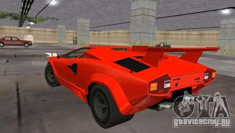 Lamborghini Countach LP5000 Extreme для GTA Vice City вид слева