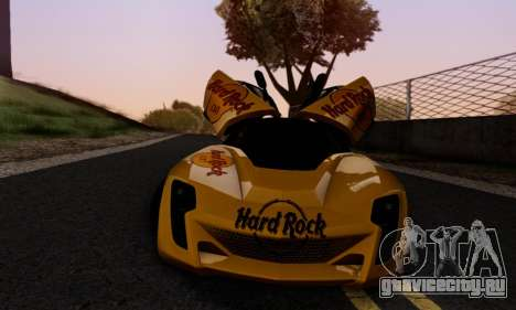 Bertone Mantide 2010 Hard Rock Cafe для GTA San Andreas вид снизу