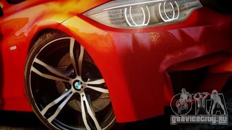 BMW M4 Coupe 2014 v1.0 для GTA 4 вид изнутри
