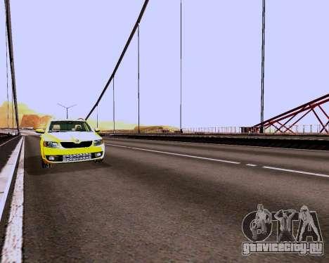 Škoda Octavia A7 Combi для GTA San Andreas вид изнутри