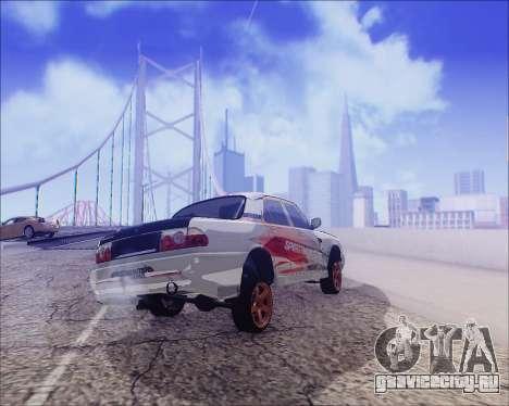 ГАЗ 31105 Tuneable для GTA San Andreas вид снизу
