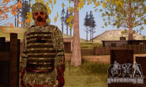 Zombie Soldier для GTA San Andreas третий скриншот