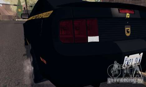 Ford Mustang Shelby Terlingua 2008 NFS Edition для GTA San Andreas колёса