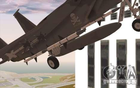 F-15C Eagle для GTA San Andreas вид справа