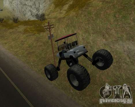 Caddy Monster Truck для GTA San Andreas вид справа