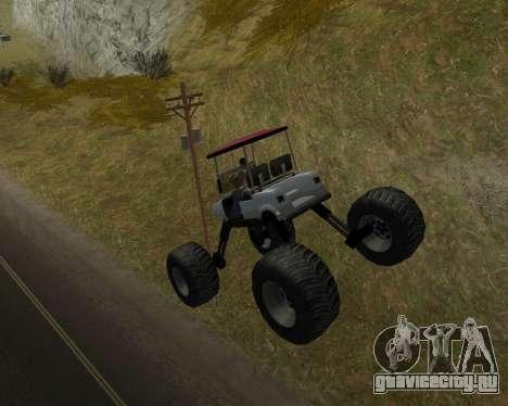 Caddy Monster Truck для GTA San Andreas вид справа
