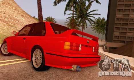BMW M3 E30 для GTA San Andreas вид сзади