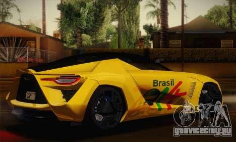 Bertone Mantide World Brasil 2010 для GTA San Andreas вид слева
