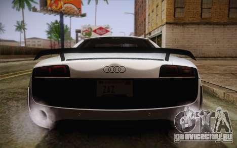 Audi R8 GT 2012 для GTA San Andreas вид снизу