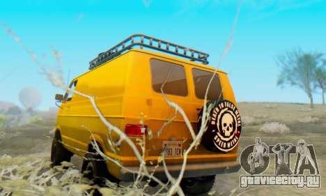 Dodge Tradesman Van 1976 для GTA San Andreas вид справа