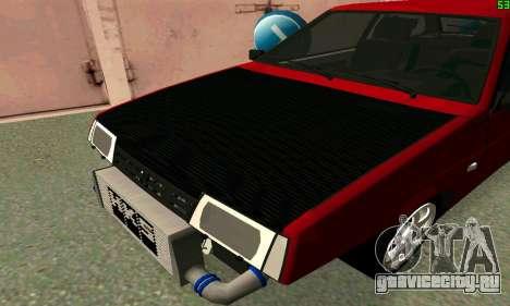 ВАЗ 2108 Turbo для GTA San Andreas вид сзади слева