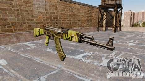 Автомат АК-47 Woodland для GTA 4