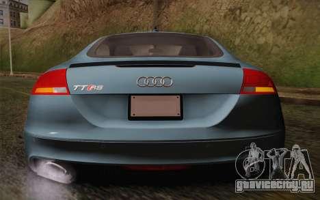 Audi TT RS 2011 для GTA San Andreas вид изнутри