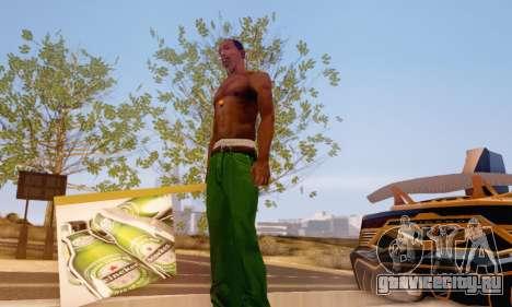 Знак с рекламой пива для GTA San Andreas второй скриншот