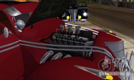 Lincoln Zephyr 1946 для GTA San Andreas вид сзади слева