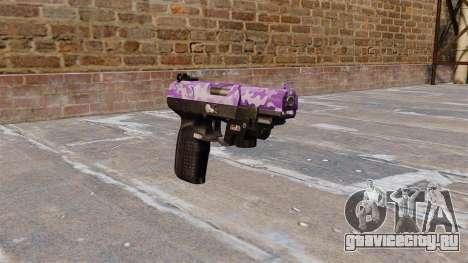 Пистолет FN Five-seveN LAM Purple Camo для GTA 4