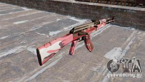 Автомат АК-47 Red urban для GTA 4 второй скриншот