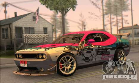 Dodge Challenger SRT8 2012 для GTA San Andreas вид сзади слева