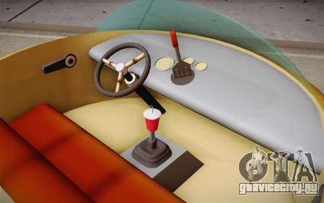 Spongebobs Burger Mobile для GTA San Andreas вид сзади слева