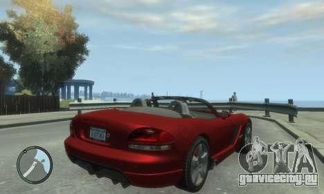 Dodge Viper SRT-10 2003 v2.0 для GTA 4 вид слева