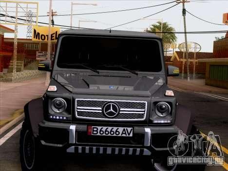 Mercedes-Benz G65 AMG 6X6 для GTA San Andreas вид сбоку