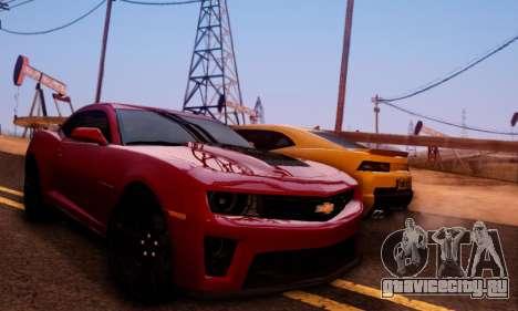 Chevrolet Camaro ZL1 2014 для GTA San Andreas вид сбоку