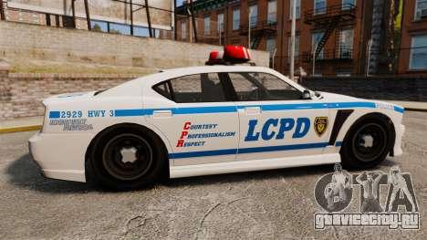 GTA V Bravado Buffalo LCPD для GTA 4 вид слева