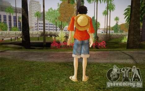 One Piece Monkey D Luffy для GTA San Andreas второй скриншот