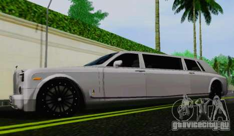 Rolls-Royce Phantom Limo для GTA San Andreas вид слева