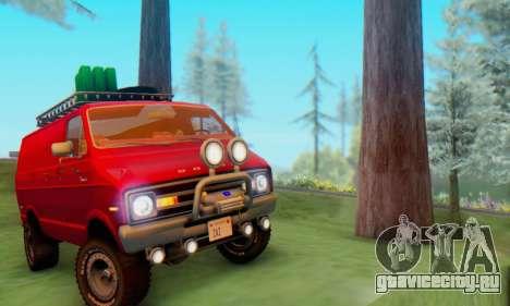 Dodge Tradesman Van 1976 для GTA San Andreas вид сзади слева