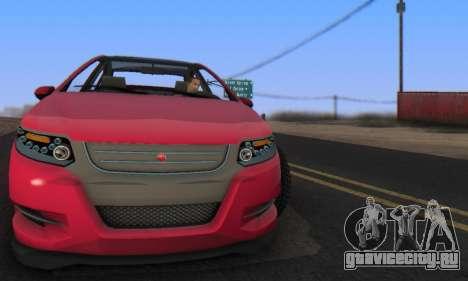 Cheval Surge V1.0 для GTA San Andreas вид сзади слева