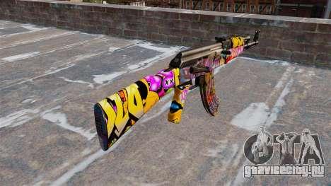Автомат АК-47 Graffitti для GTA 4 второй скриншот