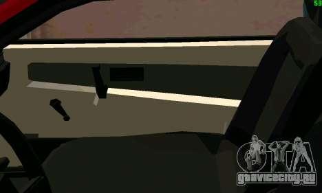 ВАЗ 2108 Turbo для GTA San Andreas вид снизу