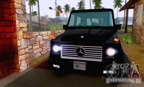 Mercedes-Benz G500 1999 Short для GTA San Andreas вид сбоку