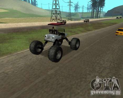 Caddy Monster Truck для GTA San Andreas вид слева
