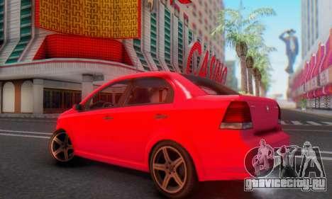 DeClasse Asea V1.0 для GTA San Andreas вид изнутри