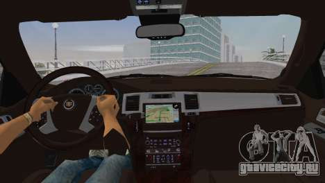 Cadillac Escalade ESV Luxury 2012 для GTA Vice City вид сзади слева