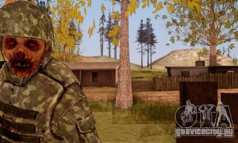 Zombie Soldier для GTA San Andreas четвёртый скриншот