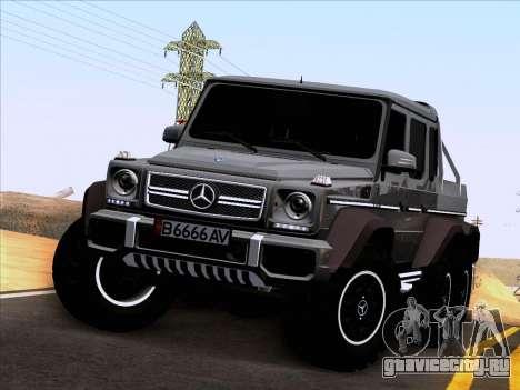 Mercedes-Benz G65 AMG 6X6 для GTA San Andreas вид изнутри