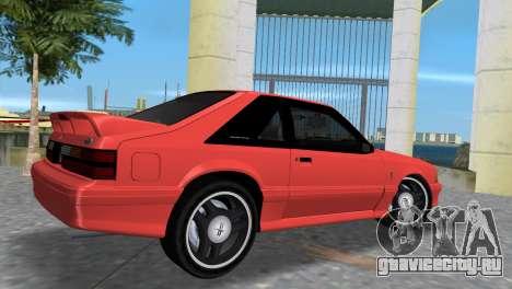 Ford Mustang Cobra 1993 для GTA Vice City вид сзади слева