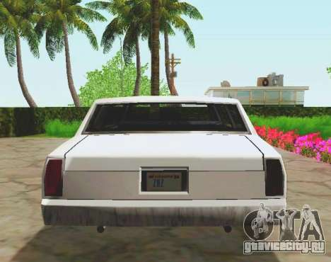 Tahoma Limousine для GTA San Andreas вид сзади